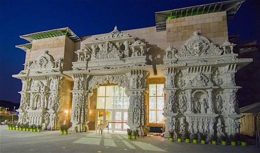 BAPS Robbinsville Photo credit: BAPS Swaminarayan Sanstha via Wikipedia