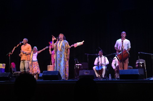 Afro-Caribbean singer Betsayda Machado performs for Venezuelans in Queens, New York - Photo by Brittany Gibson